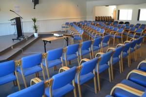 Nyopp-pussa møtesal var klar til bruk i april 2013