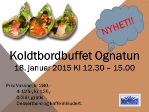 Koldtbordbuffet 18. jan, plakat