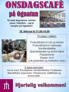 Plakat Onsdagscafe 11. febr 15
