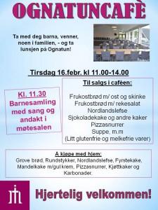 Plakat Ognatunkafe 16. febr. 16