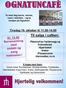 Plakat Ognatunkafe 10. okt. 2017