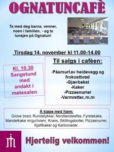 Plakat Ognatunkafe 14. okt. 2017