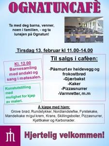 Plakat Ognatunkafe 13. febr. 18